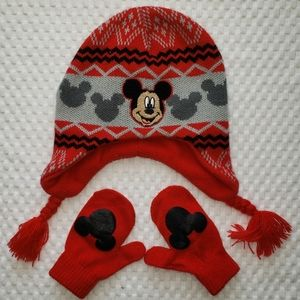 Mickey Mouse Hat & Glove Set